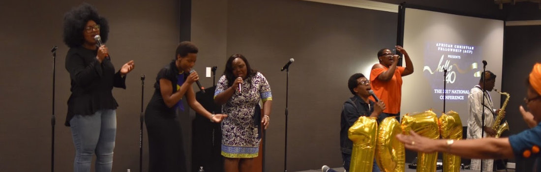 A group of african american singing