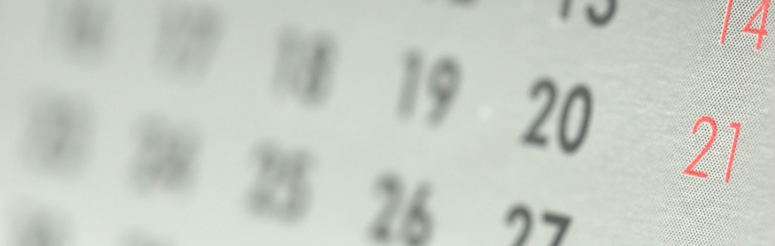 zoomed in calendar from the side