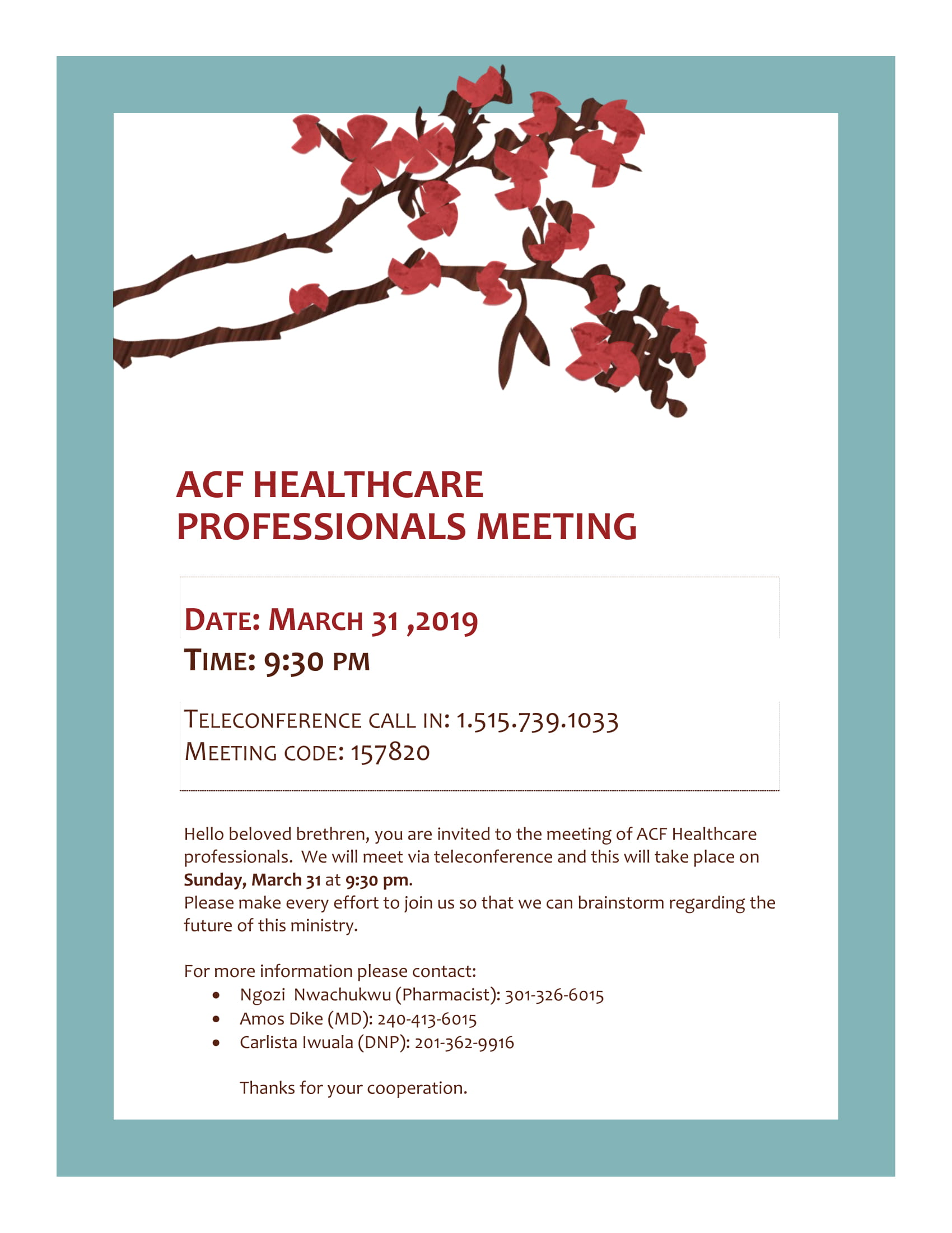 acf healthcare professionals meeting